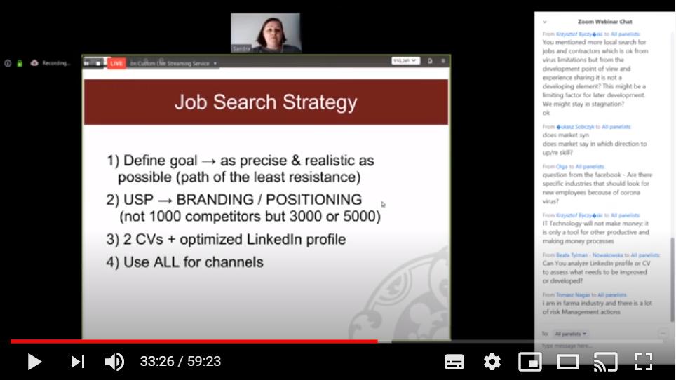 Career & Job Search in light of the coronavirus